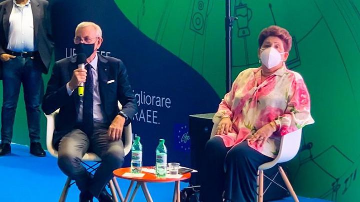 La Ministra delle Politiche Agricole Teresa Bellanova in visita all'84a Campionaria